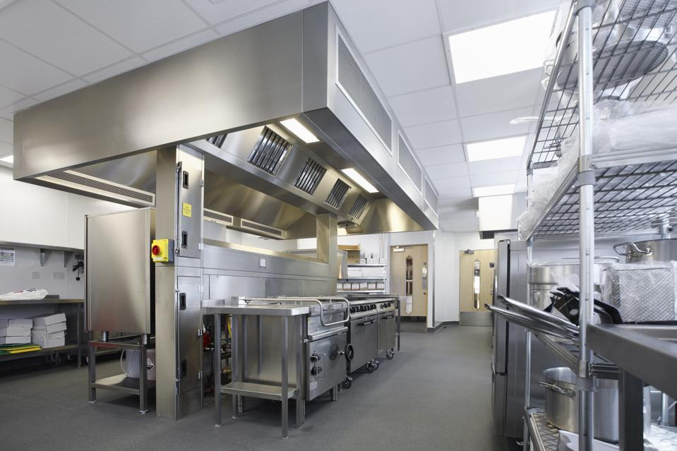 Commissary-like ghost kitchens typically split costs among multiple brands and share infrastructure.