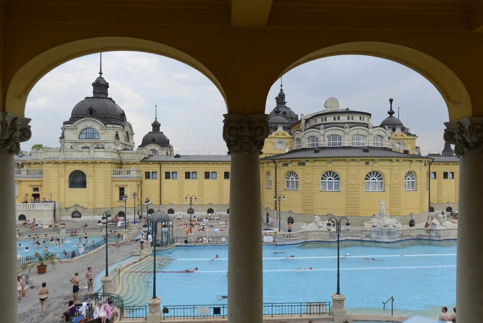 View of the Szechenyi Baths, Budapest