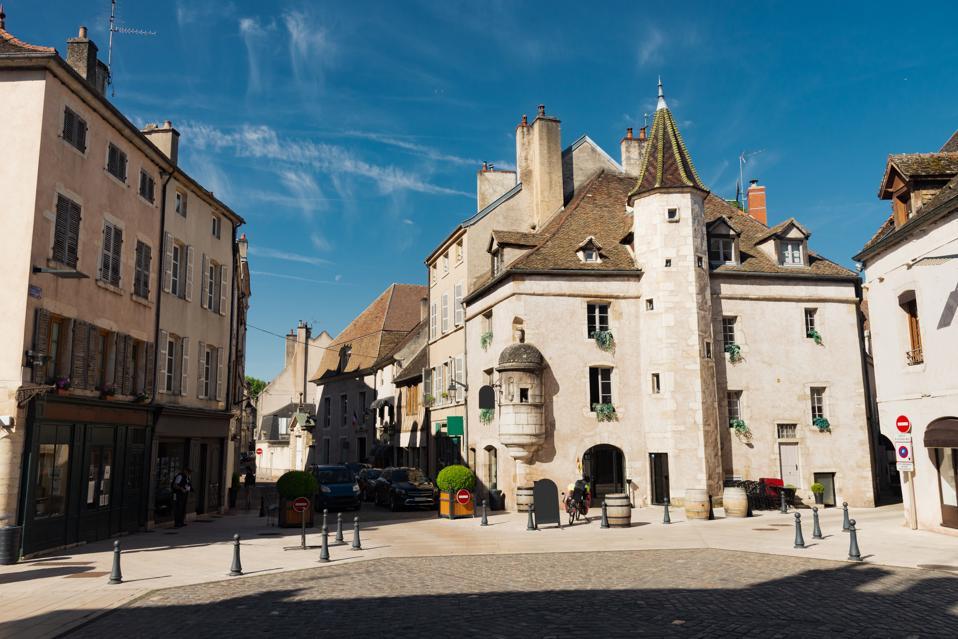 Tourism in Beaune, Burgundy, Bourgogne, France