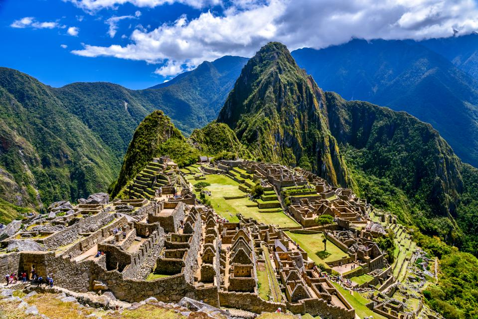 Ruins of Machu Picchu, Inca Trail, Andes, Peru