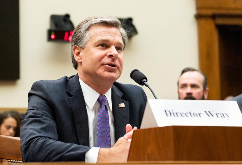 Christopher A. Wray, Director of the Federal Bureau of...