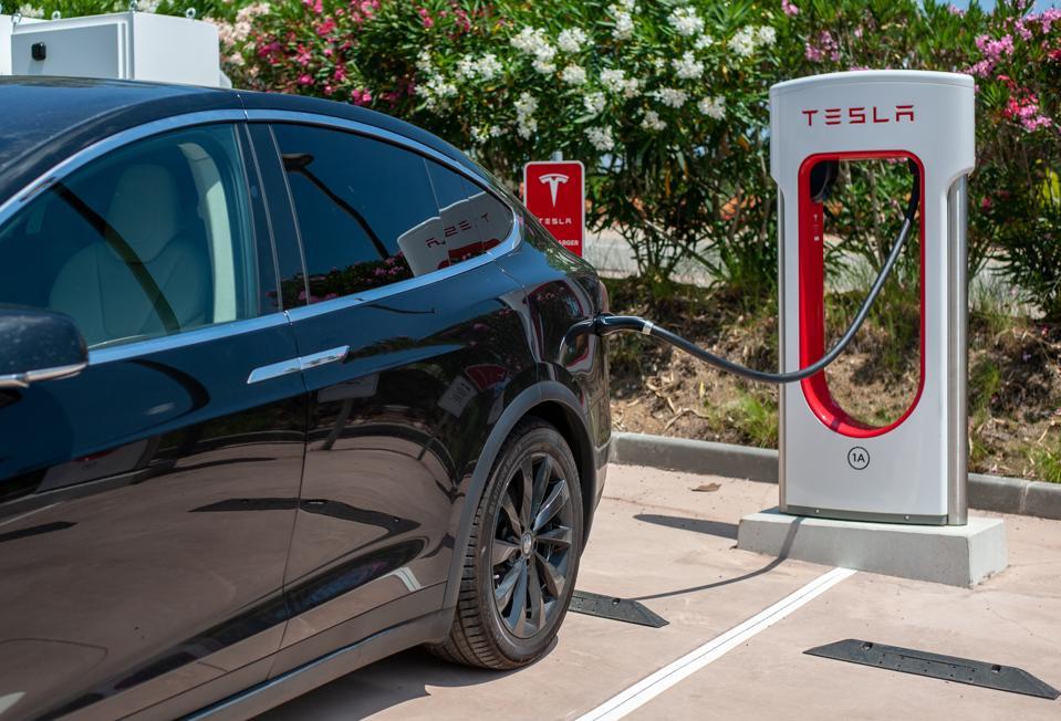 Tesla Super Charger Station in Barcelona