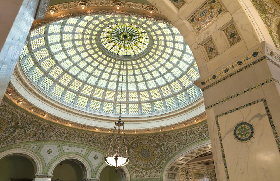 The Chicago Cultural Center, Preston Bradley Hall, The Loop, Chicago, Illinois, USA, North America
