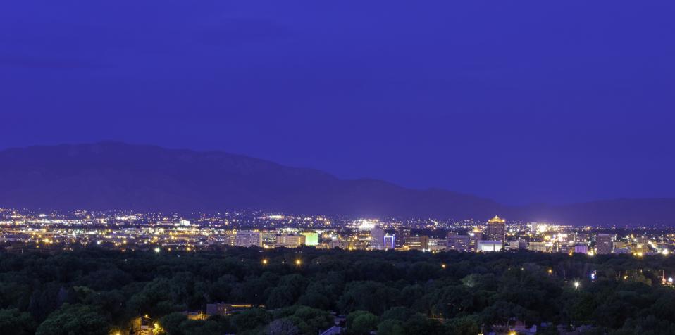 Albuquerque City Skyline at Night