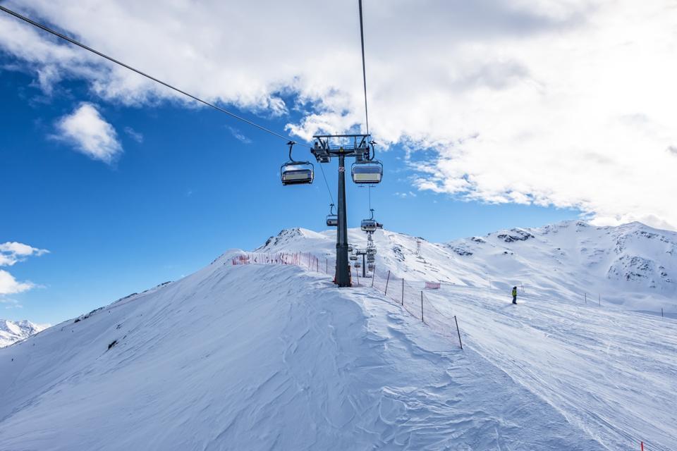 Ski-lift in Bormio Ski resort