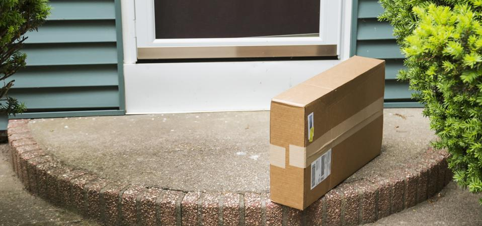 Package left at front door