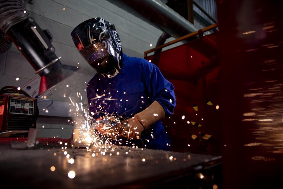Welding in the Engineering Workshop