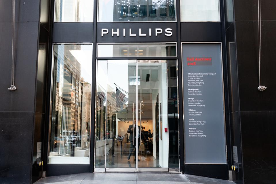Phillips auction house branch in New York City...