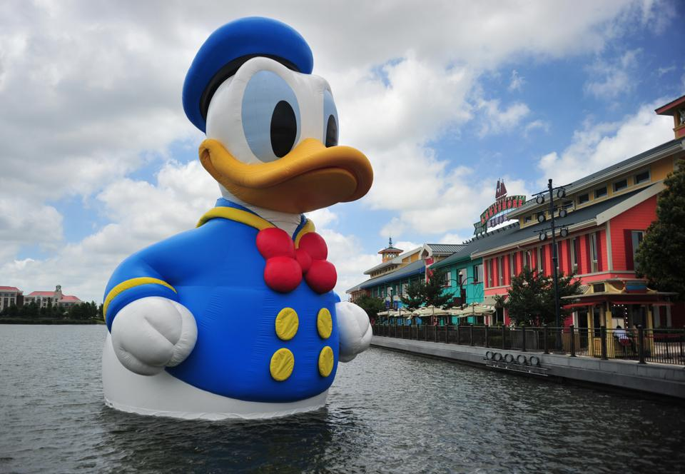 Rubber Donald Duck Debuts In Shanghai