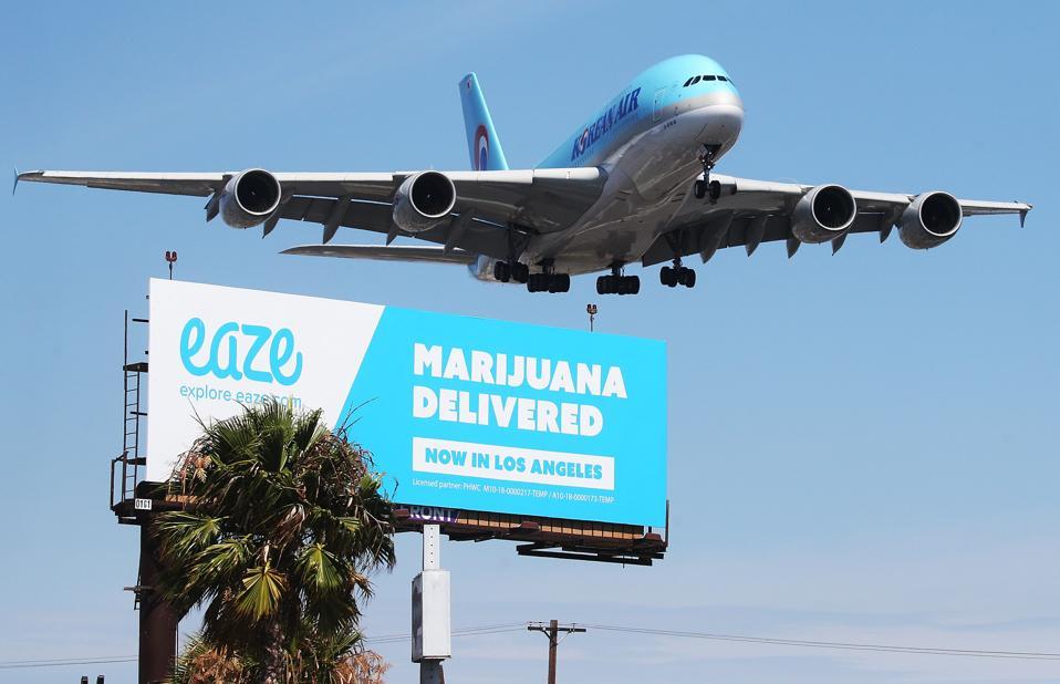 Marijuana Delivery Service Advertised on Billboard in Los Angeles