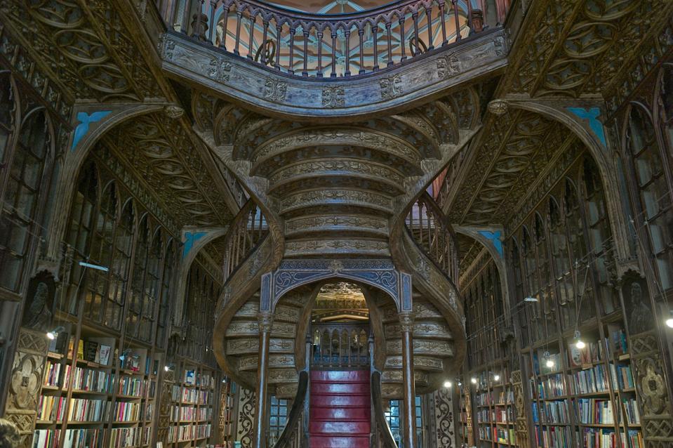 Livraria Lello library in Porto, Portugal