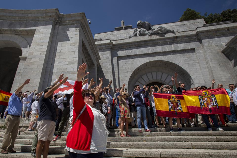 Spanish Far Right Supporters Gather Against The Removal of Franco's Remains From The Valley of Fallen
