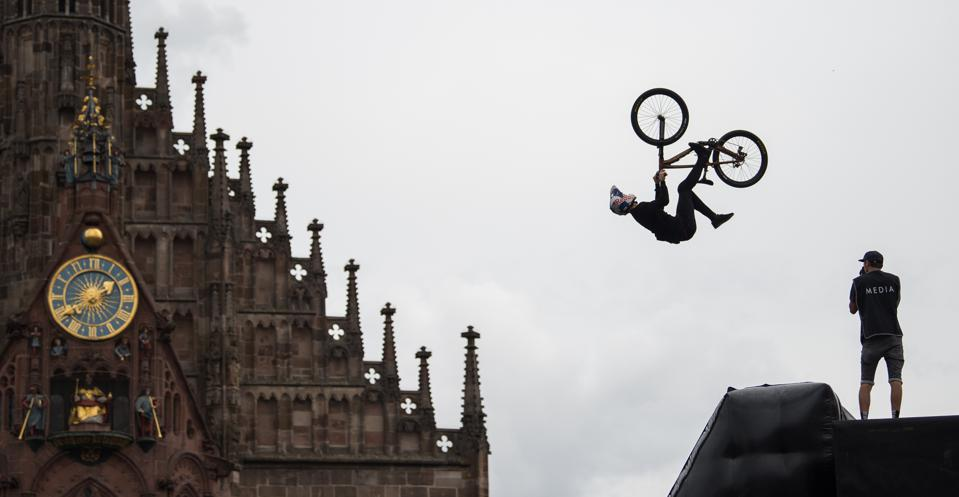 'Red Bull District Ride' in Nuremberg