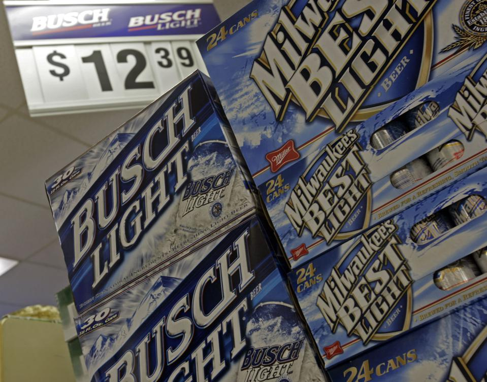 Busch Light has experienced more than a 44 percent increase in consumer spending.
