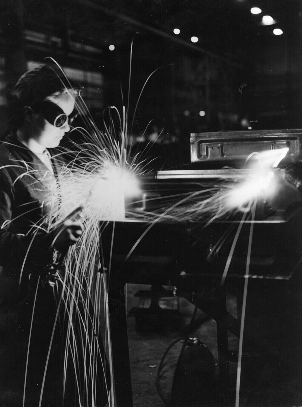 Woman Welding