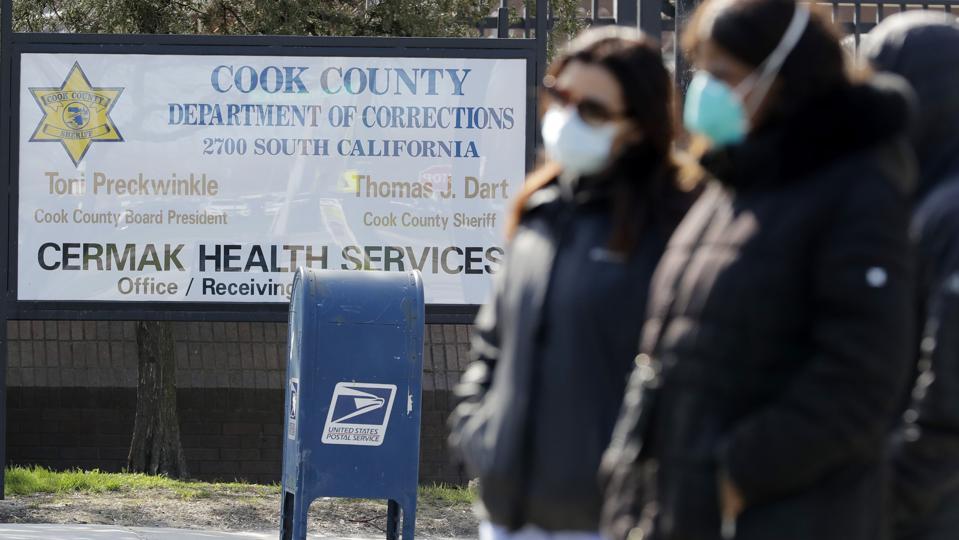 Virus Outbreak Illinois Cook County Jail