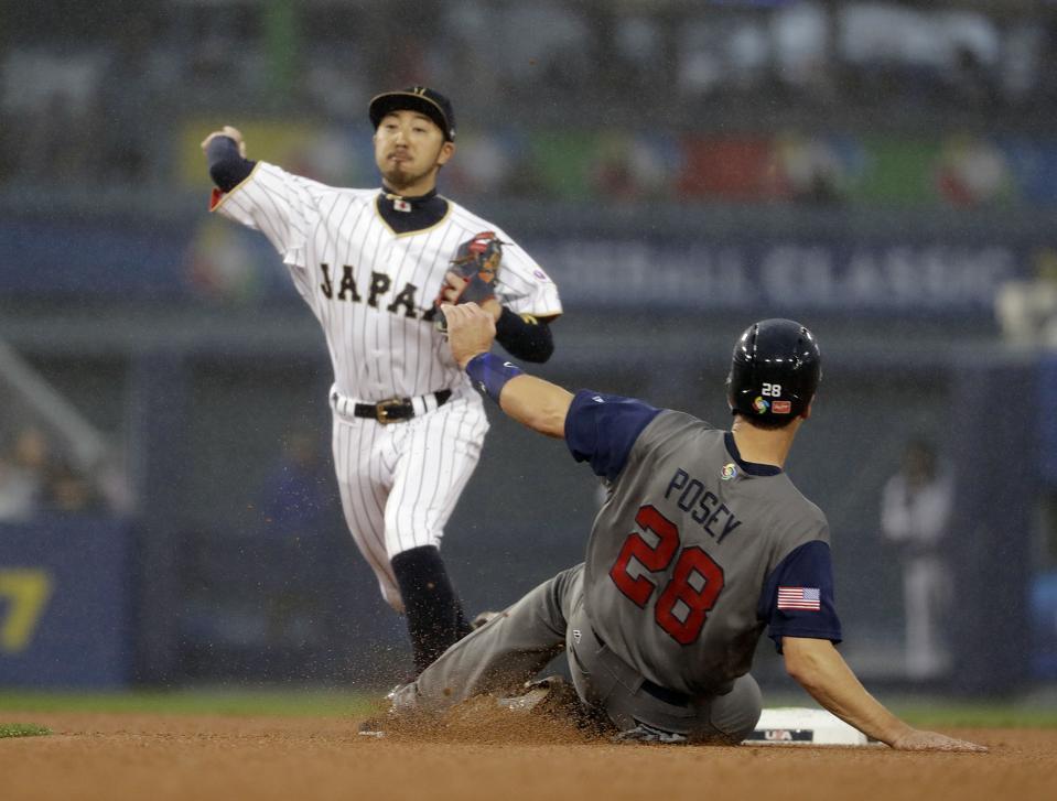 WBC US Japan Baseball