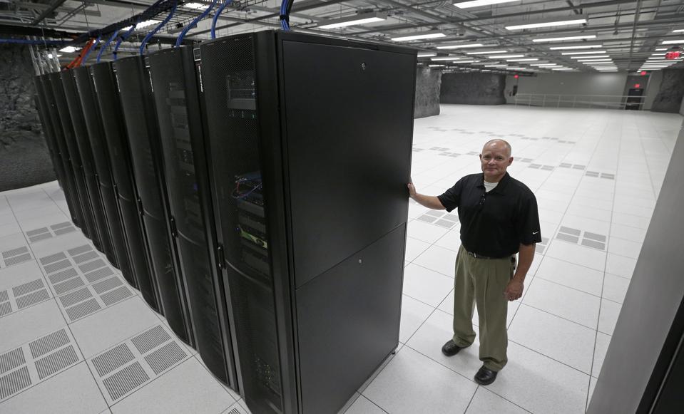 Servers in a data center in Kentucky
