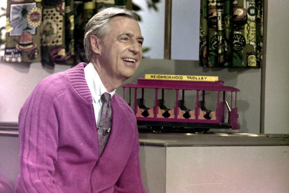 Mister Rogers on set of 'Mister Rogers' Neighborhood', Pittsburgh