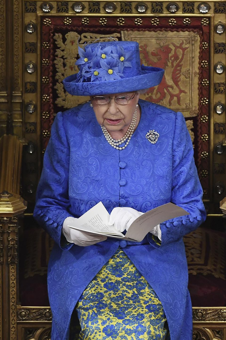 APTOPIX Britain Queen's Speech