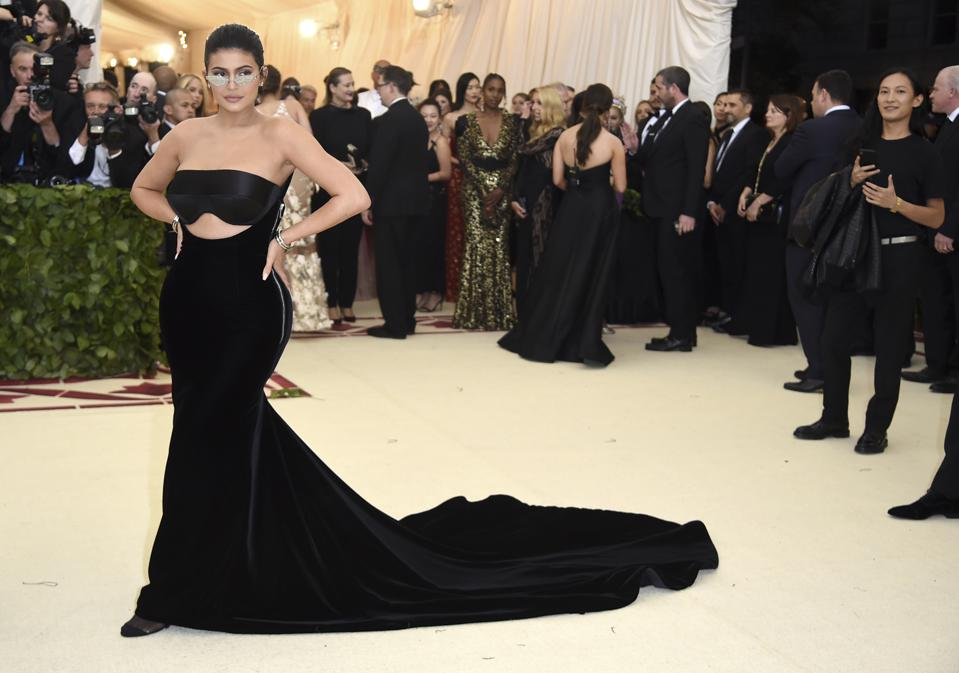 Kylie Jenner attends The Metropolitan Museum of Art's Costume Institute gala in 2018.