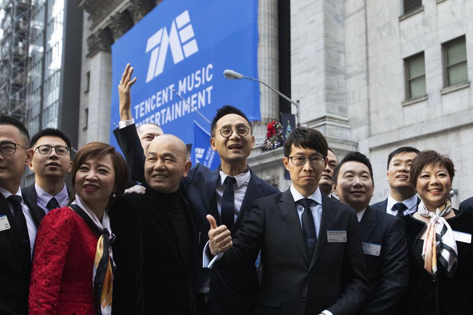 Financial Markets Wall Street Tencent IPO
