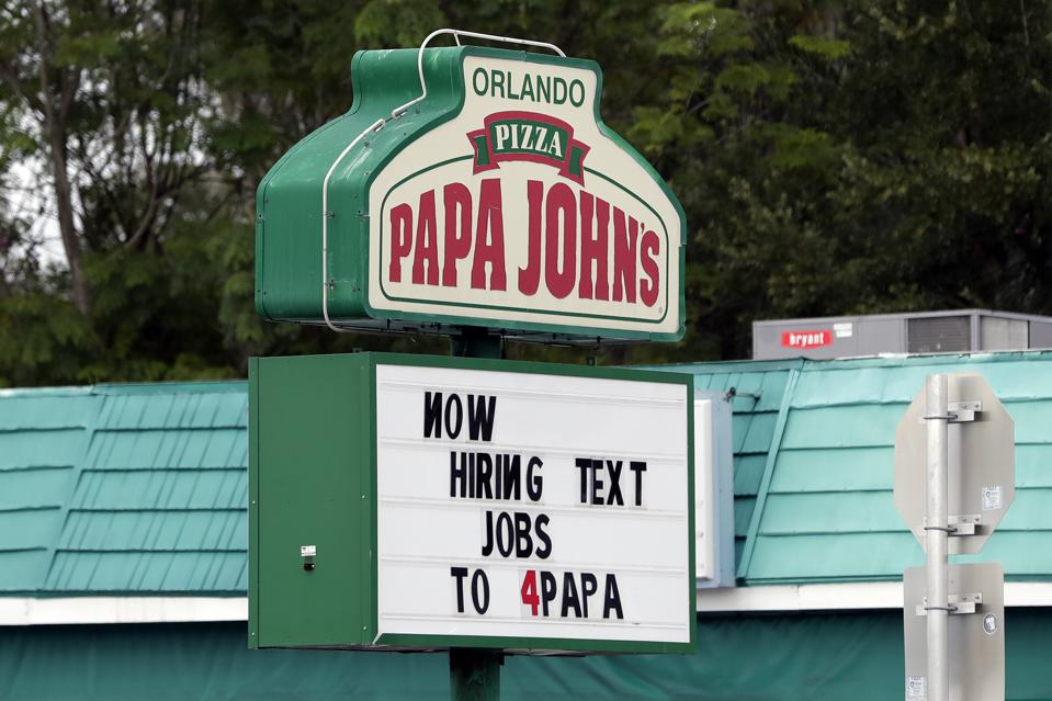 Papa John's in Orlando. AP Photo/John Raoux
