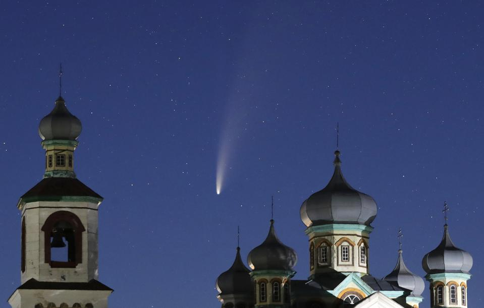 APTOPIX Belarus Comet