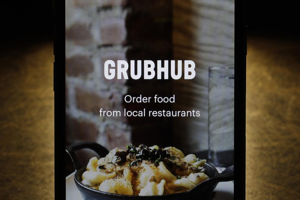 Grubhub app. AP Photo/Charles Rex Arbogast, File
