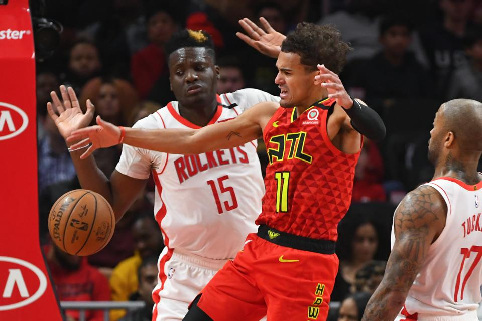 Trae Young and Clint Capela are now teammates in Atlanta.