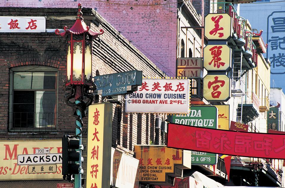 Čínska štvrť, San Francisco, Kalifornia, USA