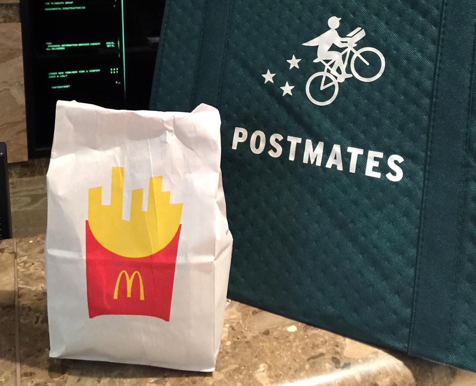Postmates delivers McDonald's on-demand.