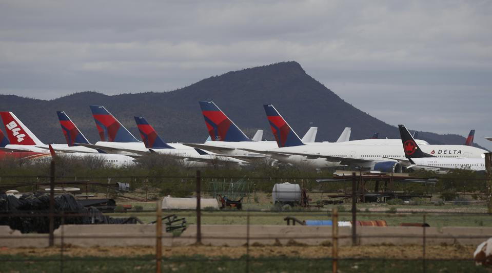 Virus Outbreak Arizona Grounded Planes