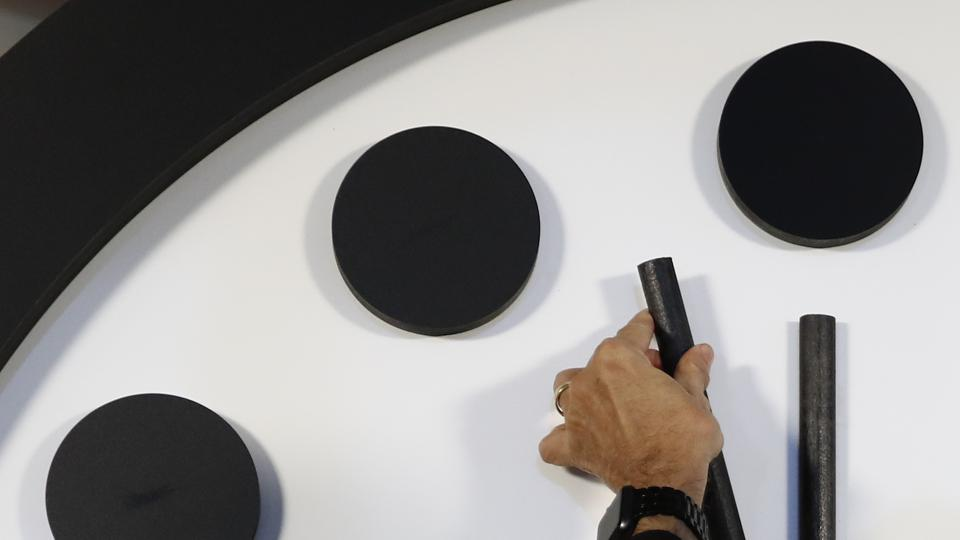 The Doomsday Clock has moved backwards and forwards 23 times, with Thursday's movement making it the 24th.