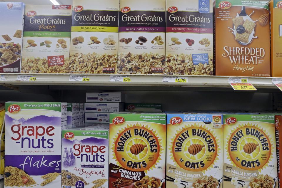 Post cereals. AP Photo/Mark Duncan
