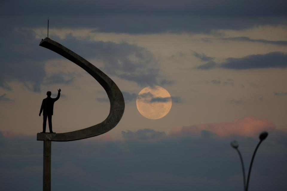 Full Moon over Brasilia, Brazil