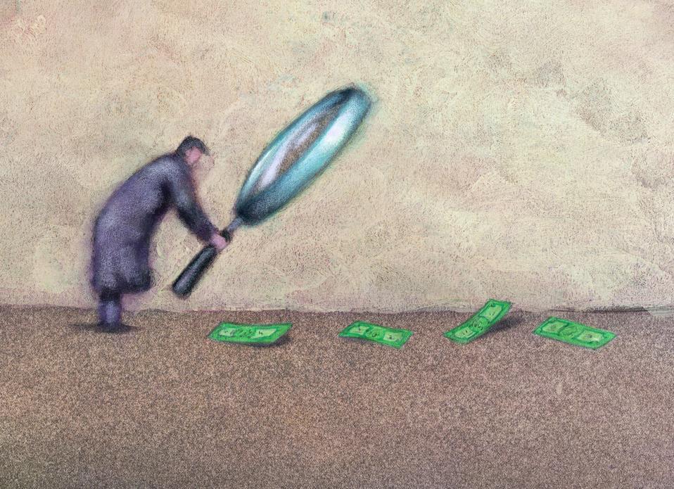 Man Following Trail of Money